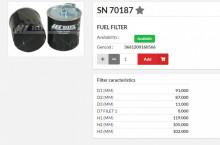 HIFI FILTER SN70187